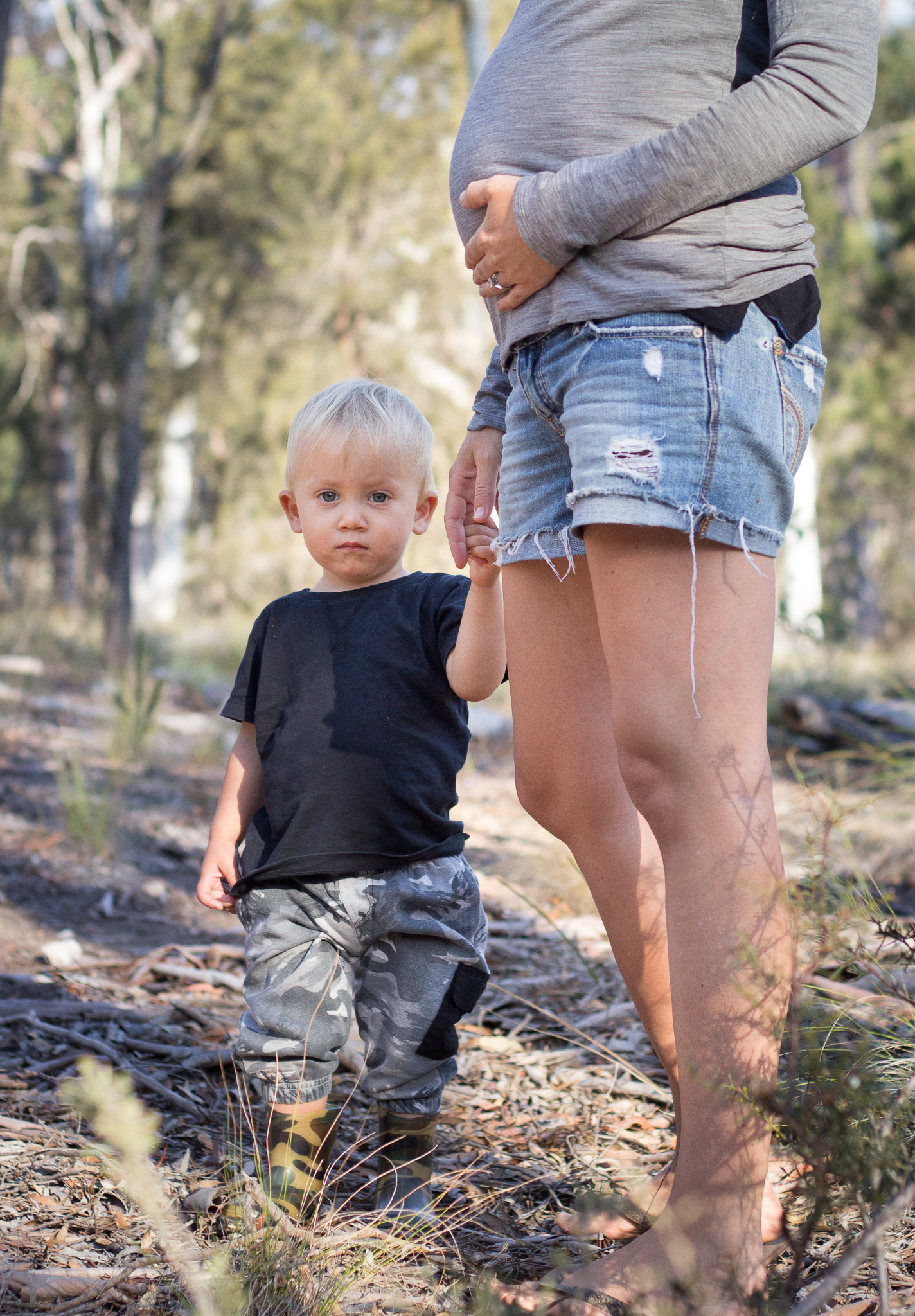 maternity and toddler boy in the bush