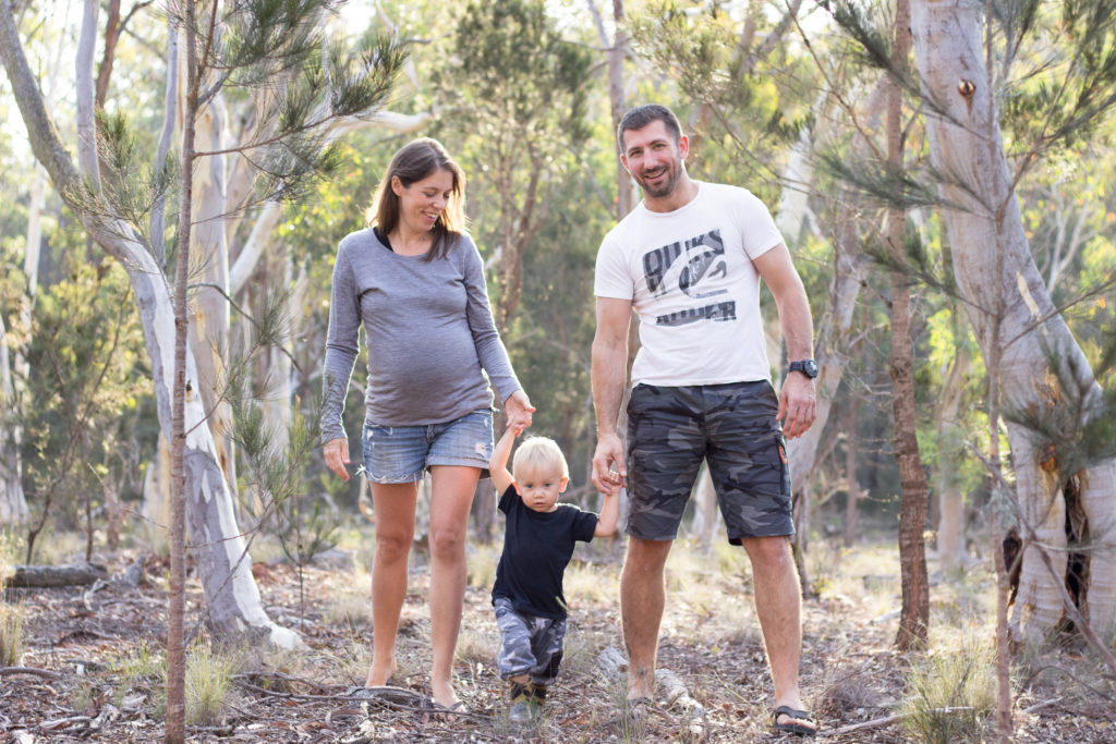 maternity family in bushland